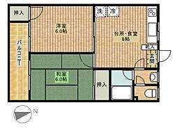 宮内ハイツ[3階]の間取り