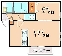 リテラ高宮東[2階]の間取り