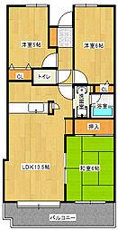 チサンマンション久留米[3階]の間取り