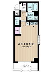 神奈川県川崎市幸区小向西町3丁目の賃貸マンションの間取り