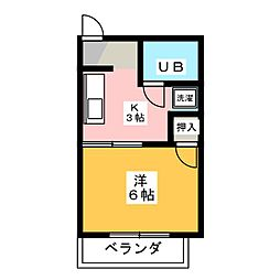 コーポ加藤III[2階]の間取り