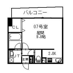 イオ南3条[00707号室]の間取り