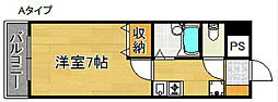 大阪府大阪市住之江区東加賀屋4丁目の賃貸マンションの間取り
