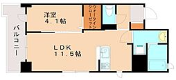 JR香椎線 伊賀駅 徒歩21分の賃貸マンション 3階1LDKの間取り