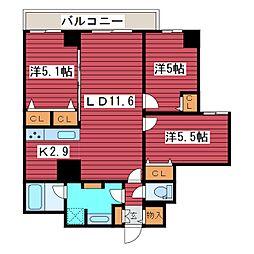 プランドール福住[4階]の間取り