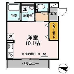 新築D-room ライナス辻堂[203号室]の間取り