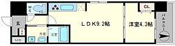 ルーエ桜川[9階]の間取り