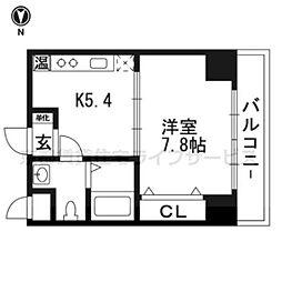 シボラ六条高倉[2-A号室]の間取り