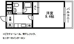アルペジオ生田[306号室]の間取り