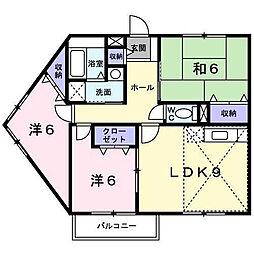 グリーンスクアエア[B-203 号室号室]の間取り