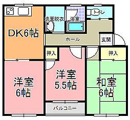 平成第一ハイツ[2階]の間取り