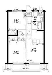 グレイスマンション[102号室]の間取り