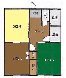 神奈川県茅ヶ崎市松林1丁目の賃貸アパートの間取り