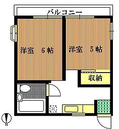 ハウス アオヤマ[2階]の間取り