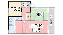 サニーハウス吉田[103号室]の間取り