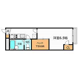 大阪府大阪市生野区巽北2丁目の賃貸アパートの間取り