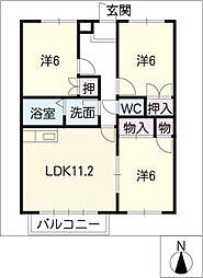 ガーデンハウス[1階]の間取り