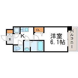 レジュールアッシュアーバンゲート[3階]の間取り