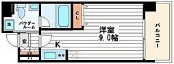 KDXレジデンス本町橋[8階]の間取り