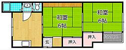 四宮ハイツ星田[1階]の間取り