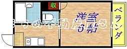 メゾン京橋[204号室]の間取り