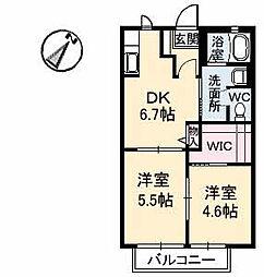 シャンティアオギ2 E棟[E103号室]の間取り