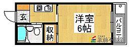 KENT広川II[3階]の間取り