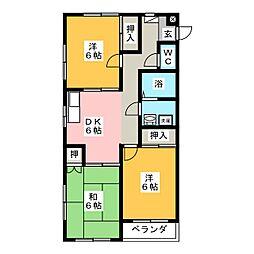 メゾン伊藤[4階]の間取り