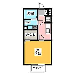ルミエール8[2階]の間取り