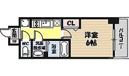 レオンコンフォート京橋イースト 12階1Kの間取り