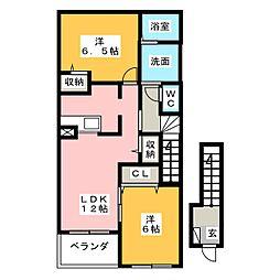 パストラーレ涼 B棟[2階]の間取り