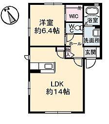 シャーメゾン名東 A棟[2階]の間取り