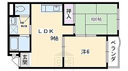 レジデンス東山[2階]の間取り