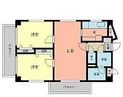 福岡県北九州市小倉南区南方2丁目の賃貸マンションの間取り