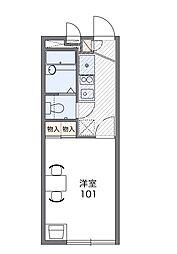 千葉県船橋市西習志野2丁目の賃貸アパートの間取り