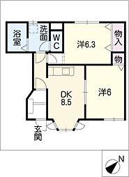 エクセルハイムI[1階]の間取り