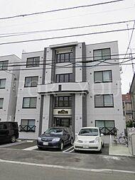 北海道札幌市白石区本郷通7丁目北の賃貸マンションの外観