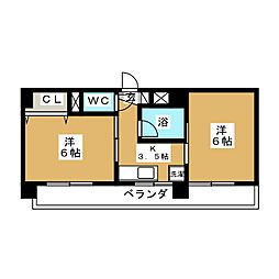 第十一ショーケービル[2階]の間取り
