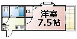 Osaka Metro中央線 緑橋駅 徒歩5分の賃貸マンション 1階1Kの間取り