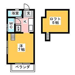 村上第2ハイツ[2階]の間取り