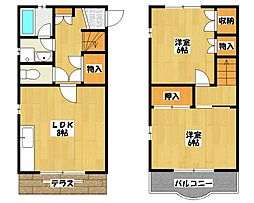 [タウンハウス] 千葉県市川市東菅野4丁目 の賃貸【/】の間取り