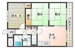 ネストクレール[2階]の間取り