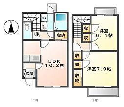 SunnyPlace B[1階]の間取り