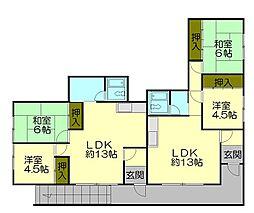 北海道小樽市長橋3丁目の賃貸アパートの間取り