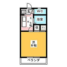 第5ハイツタマキ[3階]の間取り