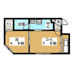 es東札幌[1階]の間取り