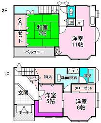 [一戸建] 東京都江戸川区西小岩3丁目 の賃貸【/】の間取り