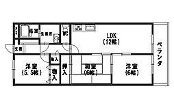 リバティ山田[302号室]の間取り