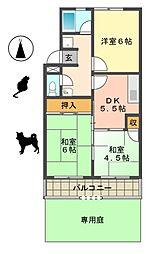第2マンション郷[1階]の間取り