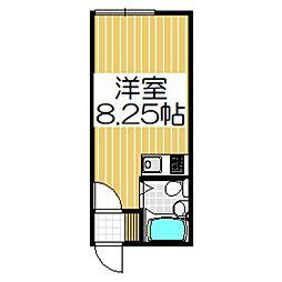 ハイツメモリーA[208号室]の間取り